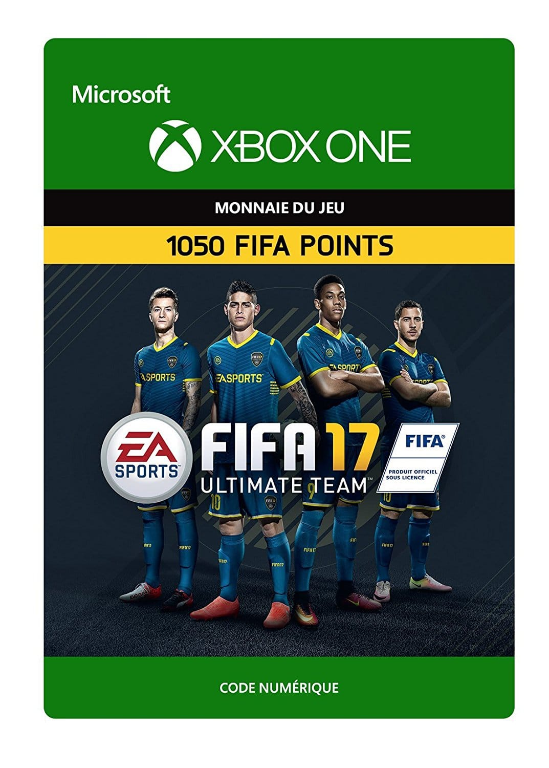 1050 points fifa fut 17 xbox one